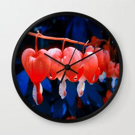 Garden Hearts Wall Clock