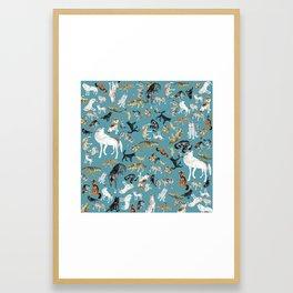 Wolves of the World pattern 2 Framed Art Print