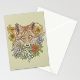 Fox Garden Stationery Cards