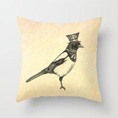 Hello Mister Magpie Throw Pillow