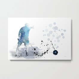 Soccer Player 6 Metal Print