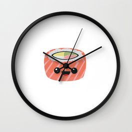 Salmon Sushi with Rice Wall Clock