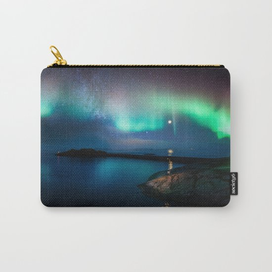 Aurora Borealis Over Coastal Waters Carry-All Pouch