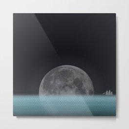 Lonely Moon Metal Print