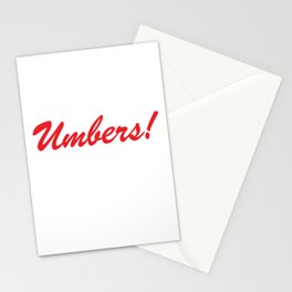 Umbers! Stationery Cards