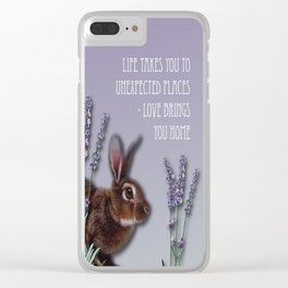 Life Takes You To Unexpected Places - Love Brings You Home Clear iPhone Case