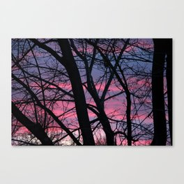 Wisconsin Sunset in the Winter Canvas Print