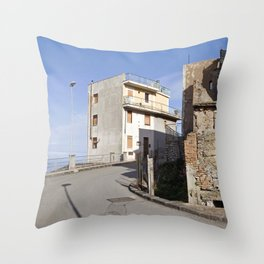 Little Village at the Sea - Forza d'Agro - Sicily  Throw Pillow
