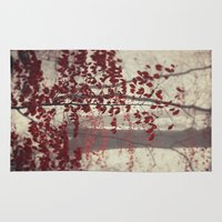 silent hill Area & Throw Rugs featuring Silent Days by Dirk Wuestenhagen Imagery