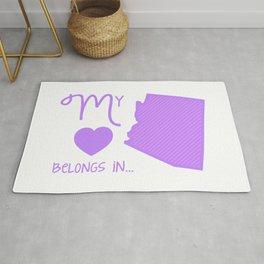 My Heart Belongs in Arizona Rug