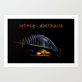 Electrified Sydney Art Print