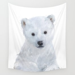 Little Polar Bear Wall Tapestry
