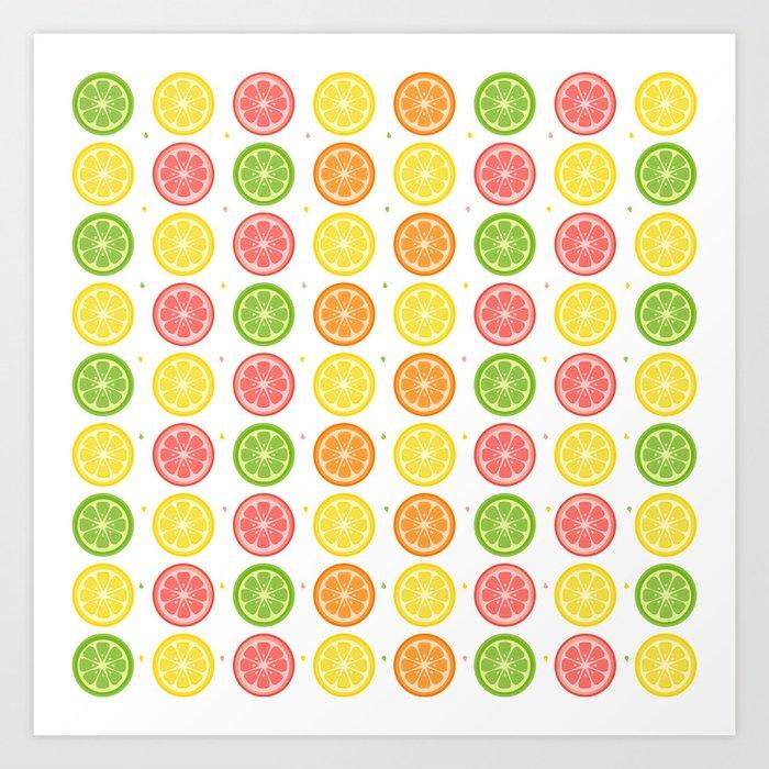AFE Citrus Pattern Art Print