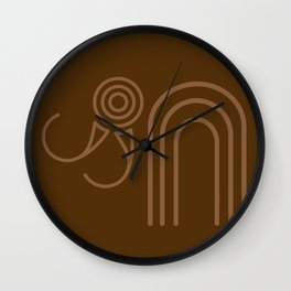 Mammoth Pattern Wall Clock
