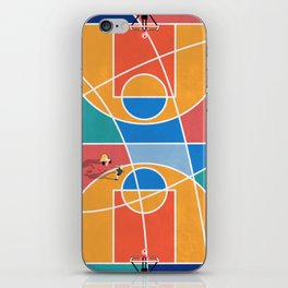 Shooting Hoops Street Basketball From Above  iPhone Skin