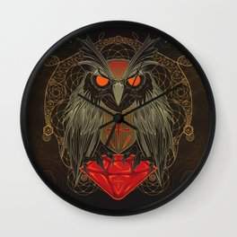 If you seek for diamonds and shiny stuff just look into owls eyes  Wall Clock