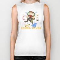 scuba Biker Tanks featuring Scuba dive by Alapapaju