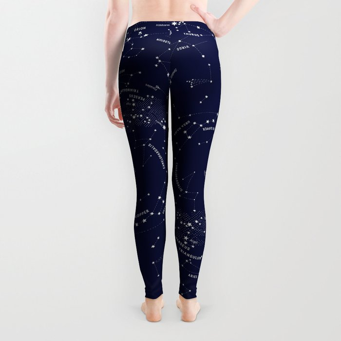 Constellation Map - Indigo Leggings