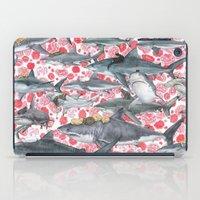 sharks iPad Cases featuring sharks by alinamalina