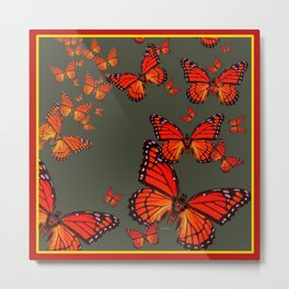 Orange is the  Color Of Monarch Butterflies Metal Print