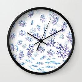 Snowflakes falling Wall Clock
