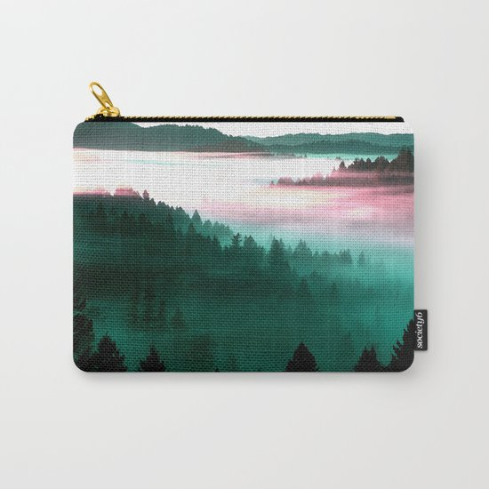 Misty Mountains Morning : Magenta Mauve Teal Carry-All Pouch
