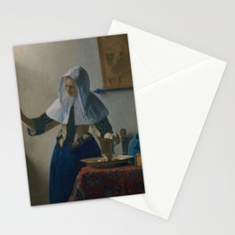 "Johannes Vermeer ""Young Woman with a Water Pitcher"" Stationery Cards"