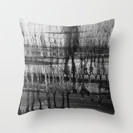 Grayscale Stains Throw Pillow