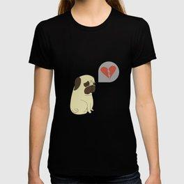 Broken hearted-pug T-shirt