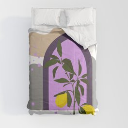 THE LEMON TREE, Botanical Wall Art Set, Abstract Print, Boho Print, Botanical Print, Tree Prints Comforters