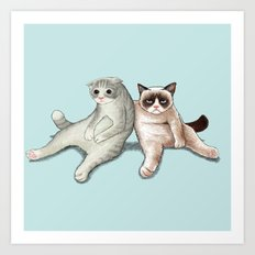Grumpy Friend Art Print