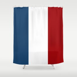 France: French Flag Shower Curtain