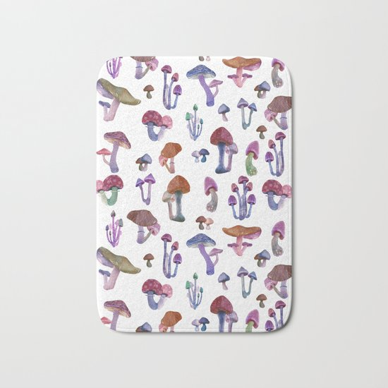 mushrooms everywhere Bath Mat