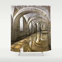 Winchester Cathedral Crypt Shower Curtain