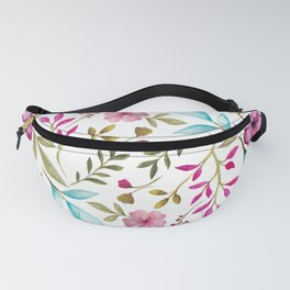 Watercolor Botanical Floral Leaves by Ms. Parasol Fanny Pack