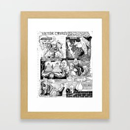VICTOR CAYRO's ALL TIME FAVORITE KINDS OF BREASTS Framed Art Print