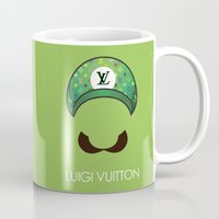 luigi Mugs featuring Luigi Vuitton by Sam Pea