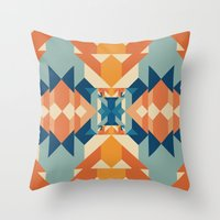 sacred geometry Throw Pillows featuring Sacred Geometry by defyeyes