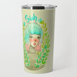 Sigh. by Ane Teruel.  Travel Mug