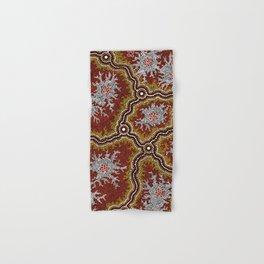 Aboriginal Art Authentic - Mountains Hand & Bath Towel