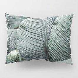 Banana Leaves Tropical Art Pillow Sham
