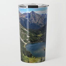 NC, Maple Pass Trail Lake Travel Mug