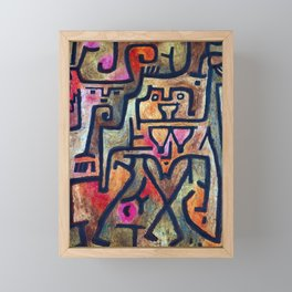 Paul Klee Forest Witches Framed Mini Art Print