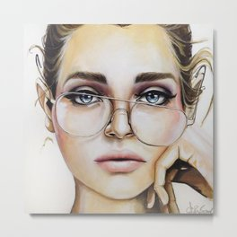 Face for NYC Metal Print
