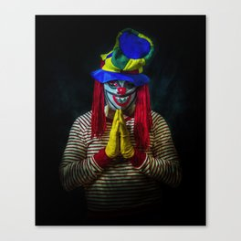 A Prayer for the Clowns Canvas Print