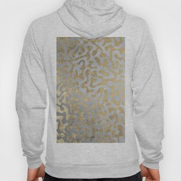 Modern elegant abstract faux gold silver pattern Hoody