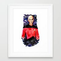 picard Framed Art Prints featuring Captain Picard Day by Lady Yate-xel