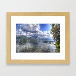 Traunsee Lake Altmunster Austria Framed Art Print