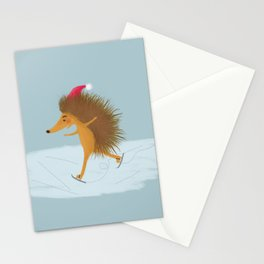 Skating Hedgehog or Winter is here! Stationery Cards