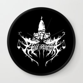 Philadelphia Black Metal Logo Wall Clock